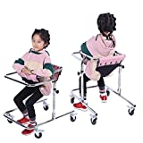 MYDZUS Walker Hemiplegia Training der unteren Extremitäten Stehregal Edelstahl Kinder-Rollator Folding Rehabilitation Child Walker (Color : Silver, Size : 65 * 47 * 67cm)