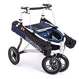 Rollator Veloped Golf 12er L marineblau/schwarz/rot